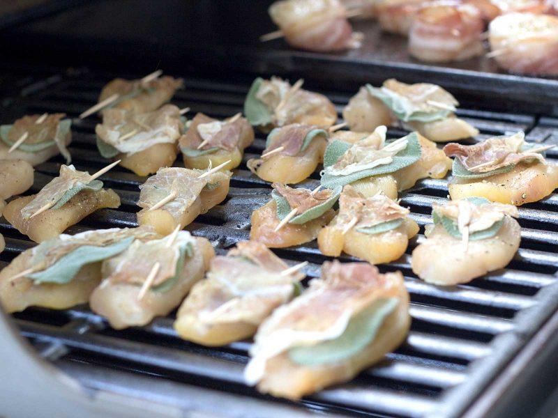 Gegrillte Saltimbocca Hühnchen